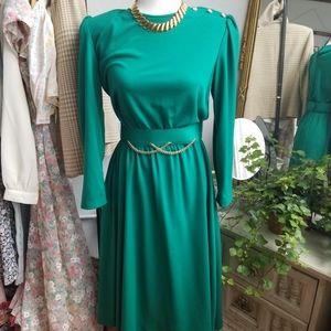 Vintage Emerald Green Dress